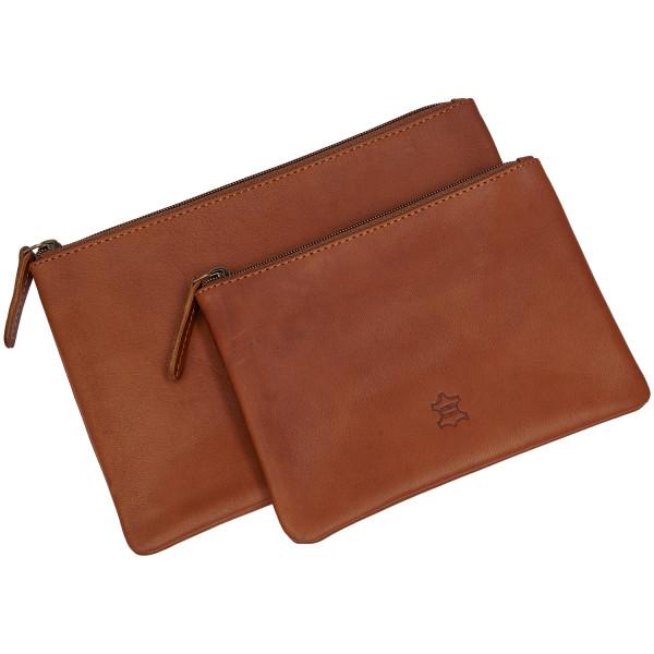 wildery banktasche bzw. dokumententasche in hellbraun mit vintage Leder