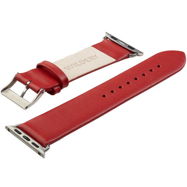 Echt Lederarmband für die Apple Watch series 1 bis 6 in rot