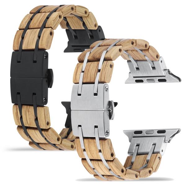 Apple Watch Glieder Holzarmband in hellbraun