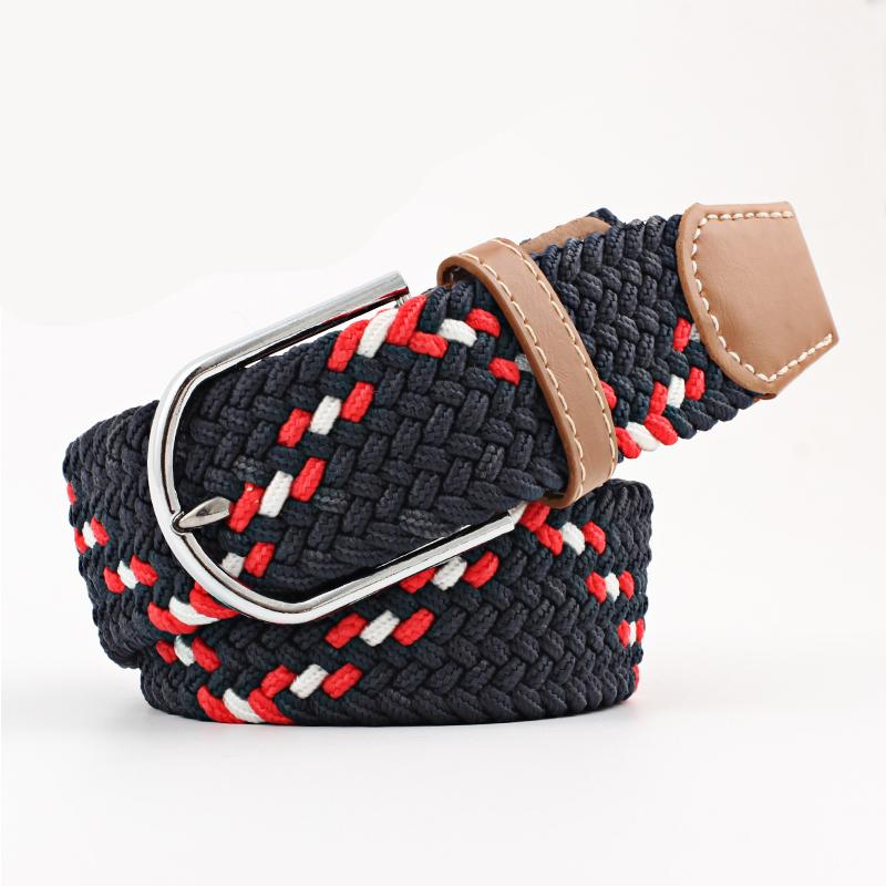 rot schwarzer elastischer geflochtener Gürtel