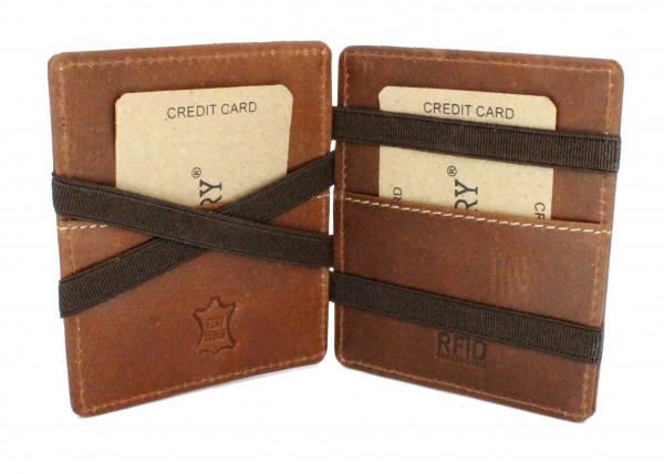 wildery magic wallet flip boy kartenetui in beige und rfid schutz