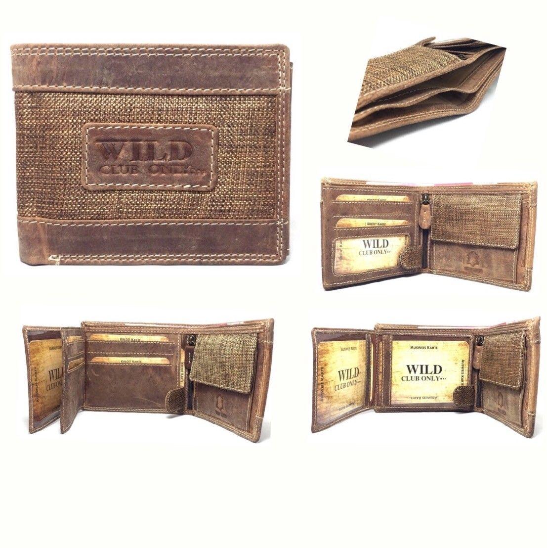 d44edb90570e6 Stylische Herren Geldbörse aus echt Leder und Stoff ...