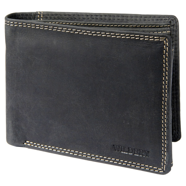 wildery vintage geldbörse in schwarz und rfid schutz