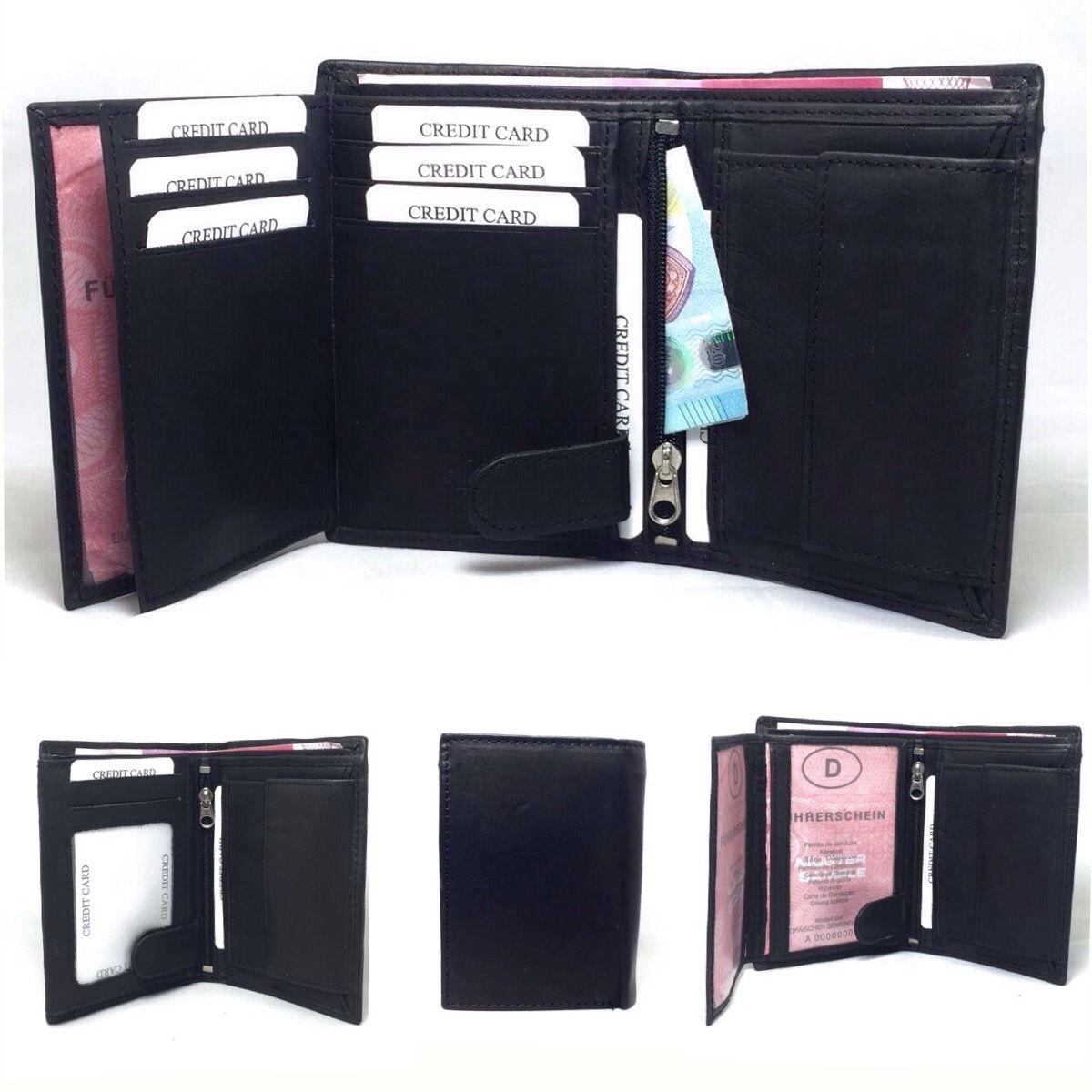 Damen Leder Geldbörse Portmonee Portemonnaie Börse Geldbeutel Brieftasche Neu