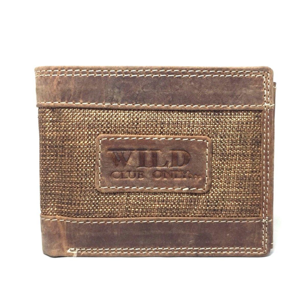 1017e800d08f4 ... Stylische Herren Geldbörse aus echt Leder und Stoff ...