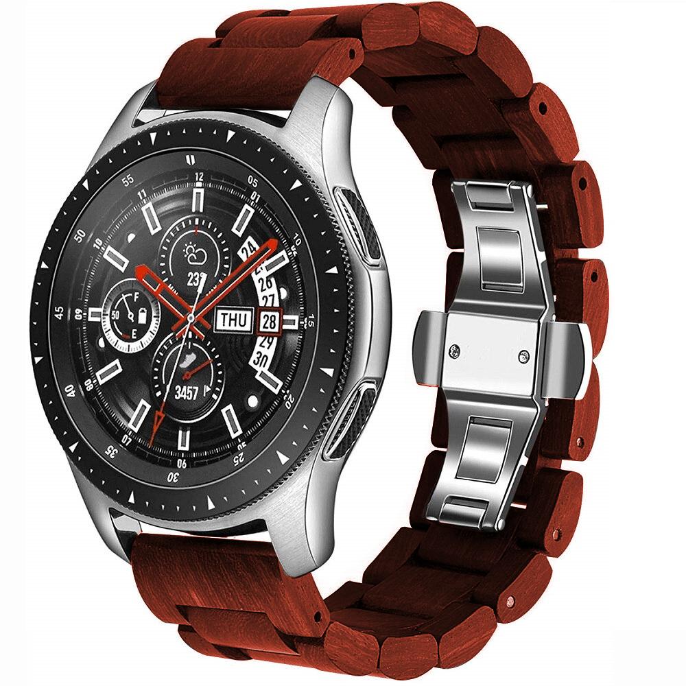 Samsung Watch Glieder Holzarmband in rotbraun