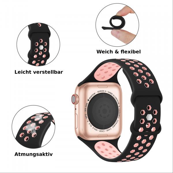apple watch loop silikonarmband in weiß