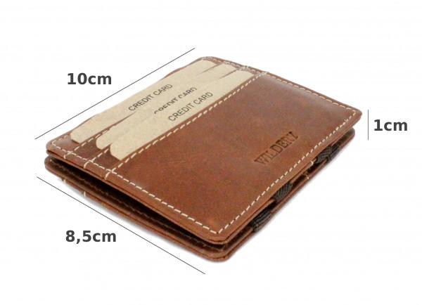 wildery magic wallet kartenetui in beige mit rfid und nfc schutz