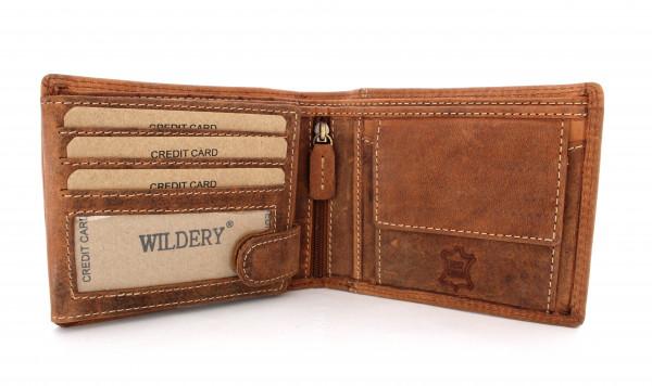 wildery vintage geldbörse in beige und rfid schutz