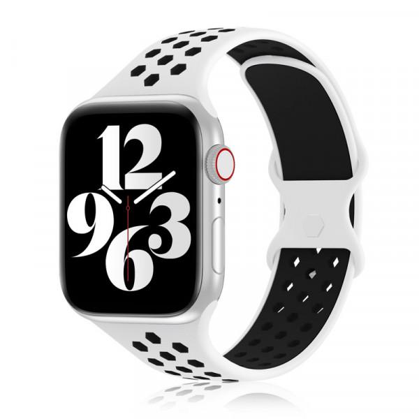 apple watch loop silikon armband in weiß