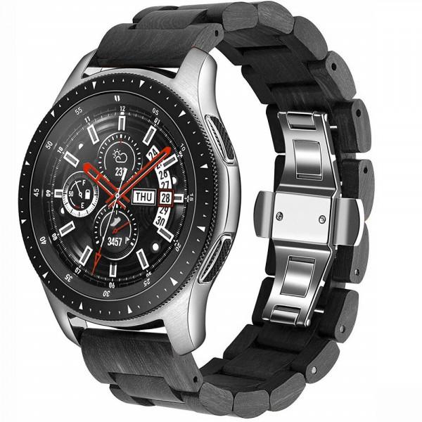 Samsung Watch Glieder Holzarmband in schwarz