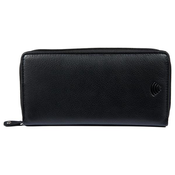 kleine damen geldbörse in schwarz mit RFID Schutz