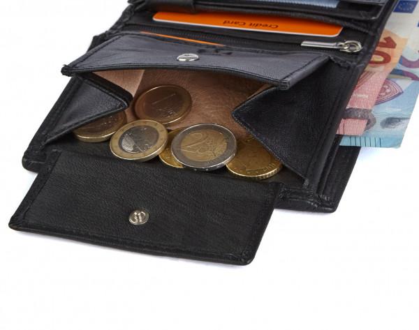 wildery voll leder geldbörse in schwarz