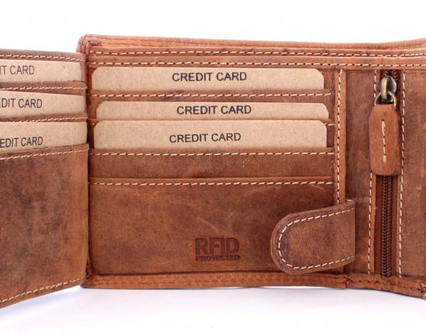 wildery vintage geldbörse in beige mit rfid und nfc schutz