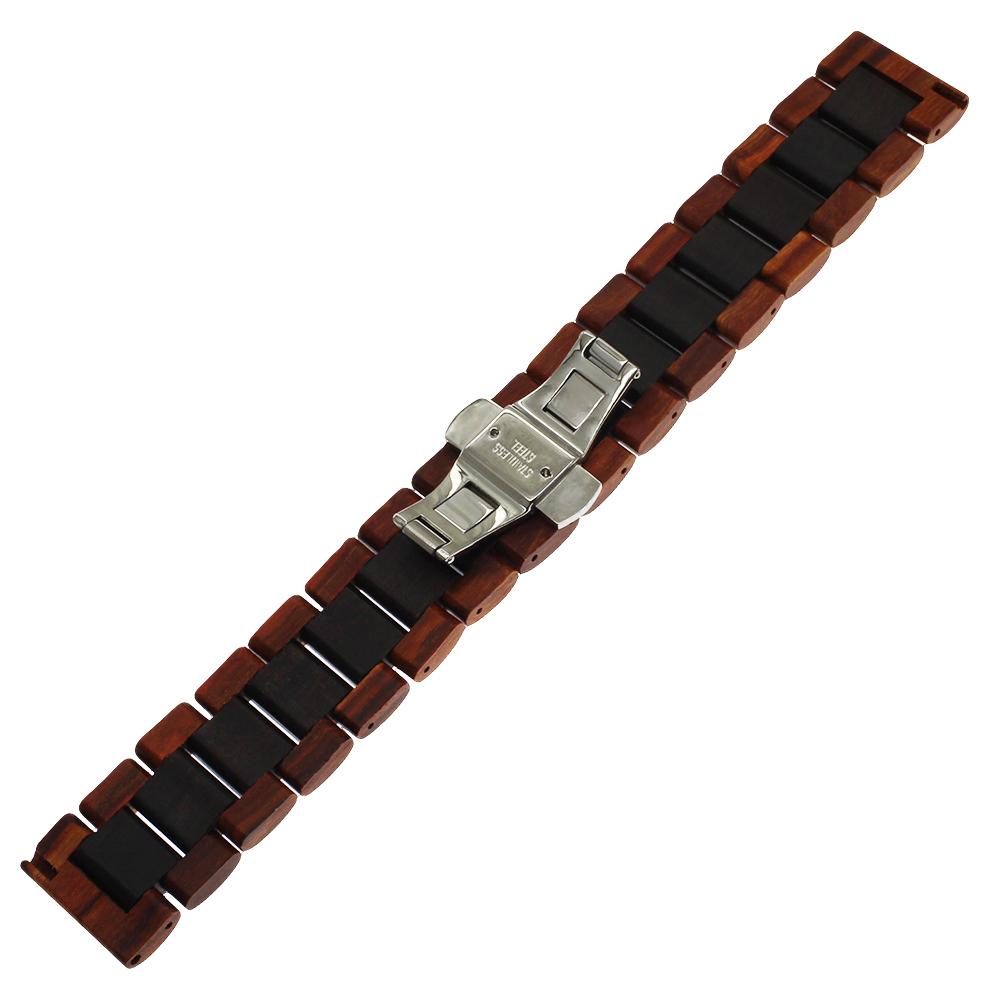 maple wood und rotbraunes und schwarzes Holz Armband für die Samsung Watch